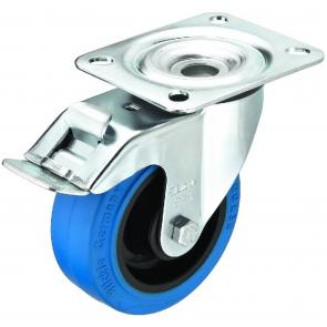 GCBB-100B Hjul med bremse blå