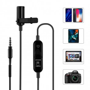 Knaphuls mikrofon til Iphone, android, laptop og kamera - KM-4013