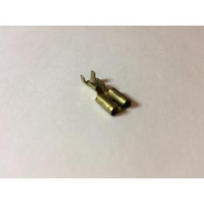 Højttaler kabelsko bred 6,3 mm Messing