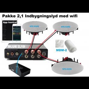 Pakke 2,1 Indbygningslyd med wifi