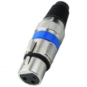 XLR-207J XLR-stik hun blå