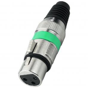 XLR-207J XLR-stik hun grøn
