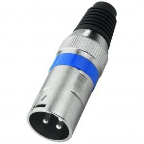 XLR-207P XLR-stik han blå