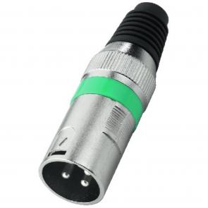 XLR-207P XLR-stik han grøn