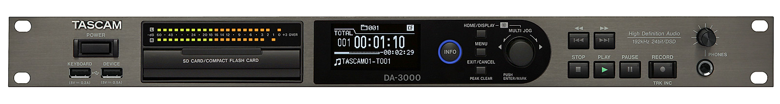 Tascam DA-3000 Stereo audio recorder AD/DA converter
