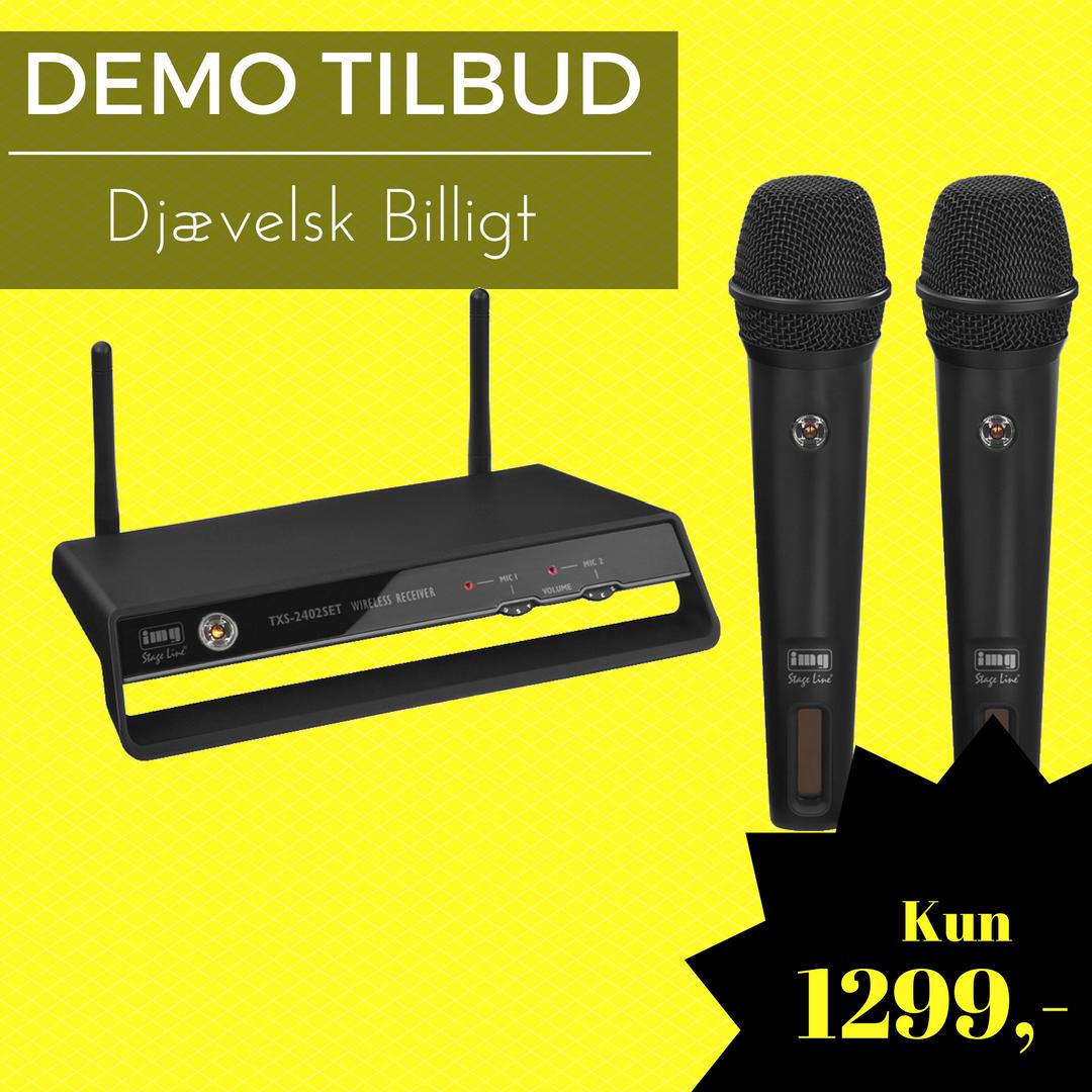 DEMO TXS-2402 med kun 1 mikrofon