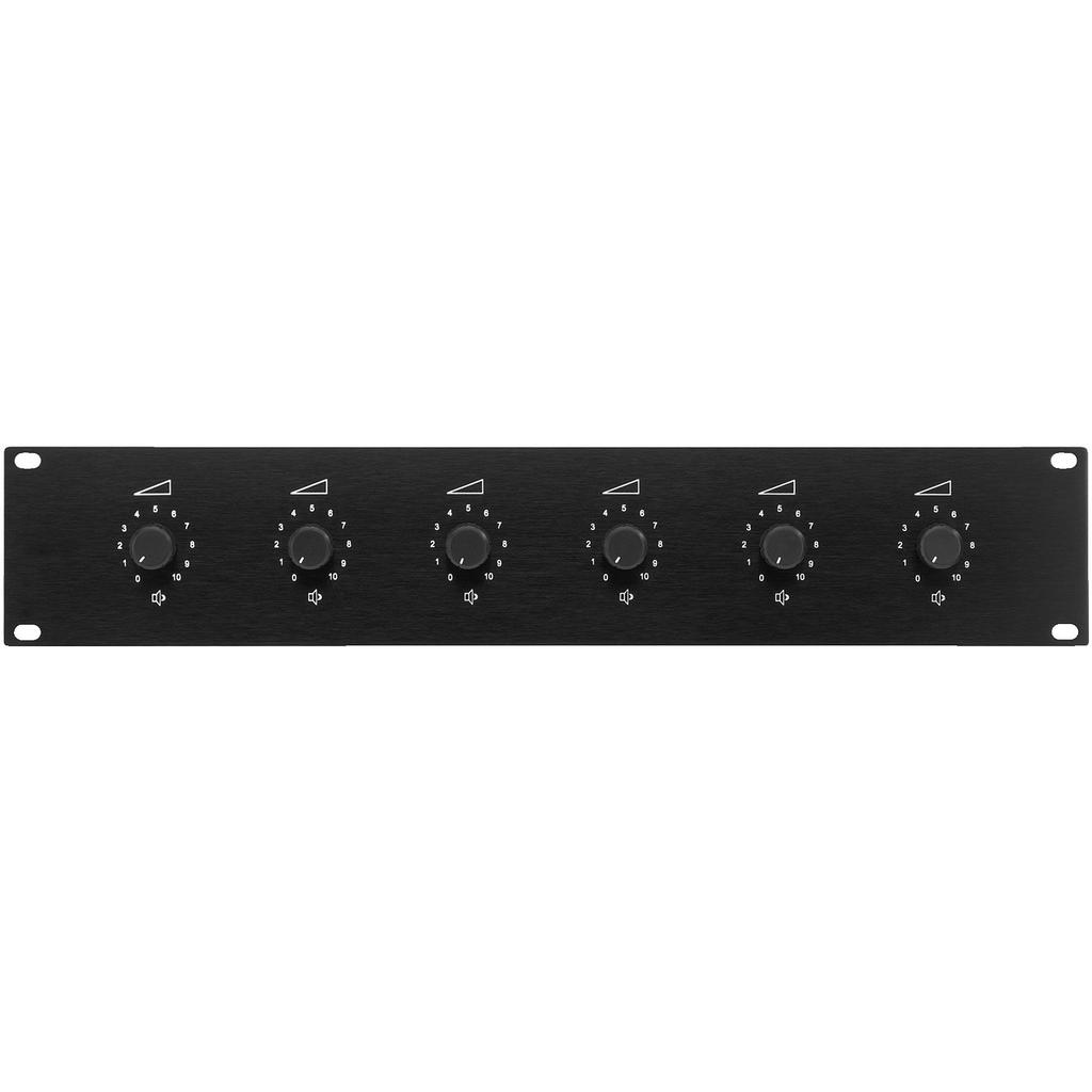 Billede af ATT-1950 ELA-volumekontrol 6 vejs til rack installation