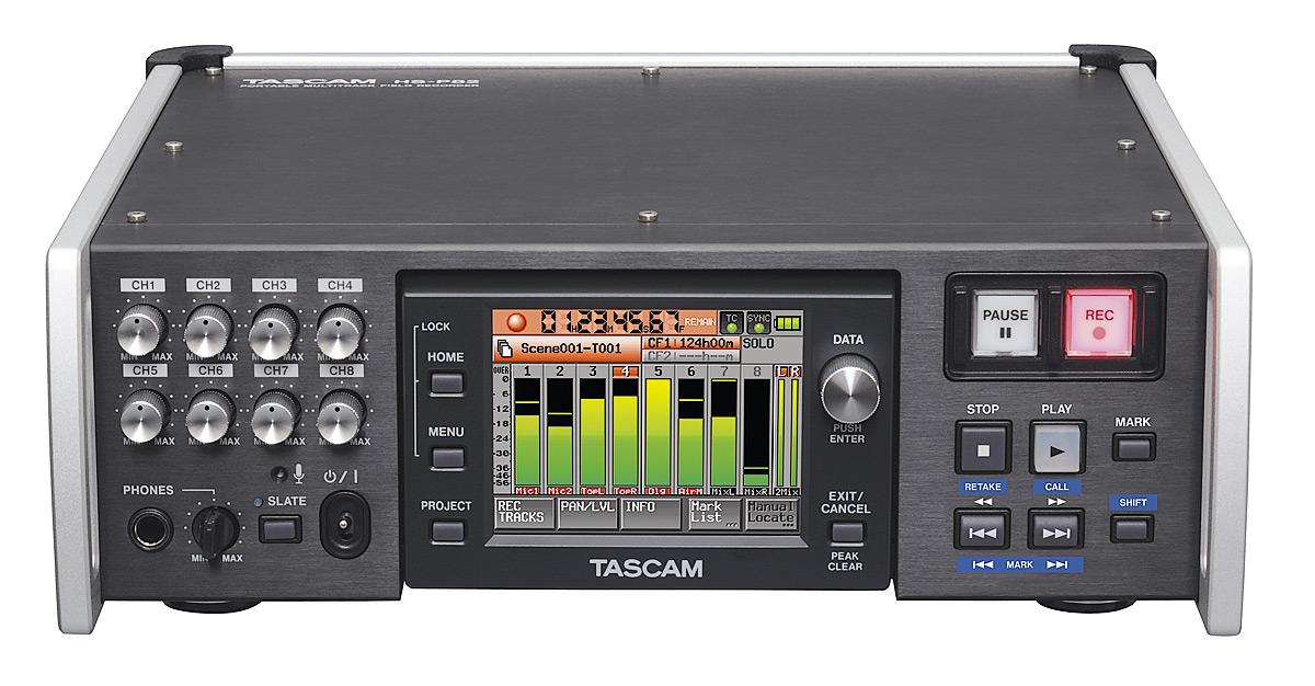 Tascam HS-P82 mobil multitrack recorder 8 input