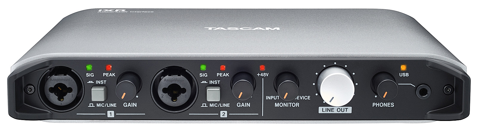 Tascam iXR USB audio og midi interface 2 in / 2 out