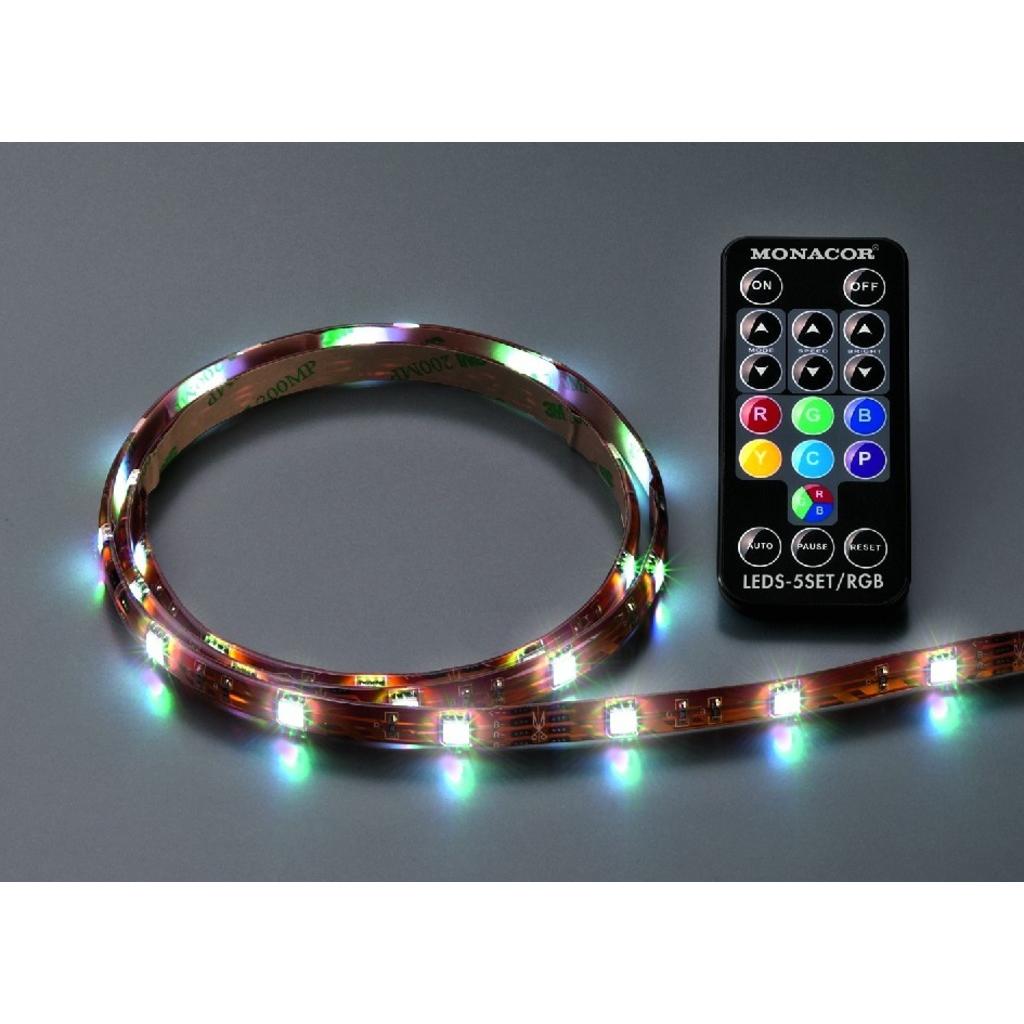 LEDS-5SET/RGB Lysslange sæt 5 mtr 150 SMD RGB