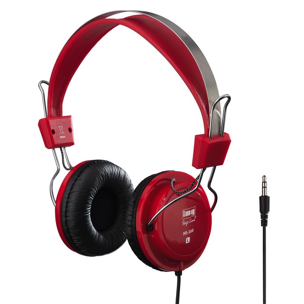 Billede af Stereo hovedtelefon Rød - MD-360