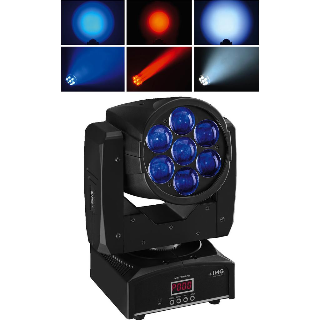 Billede af LED moving wash m/zoom - MINIZOOM-712