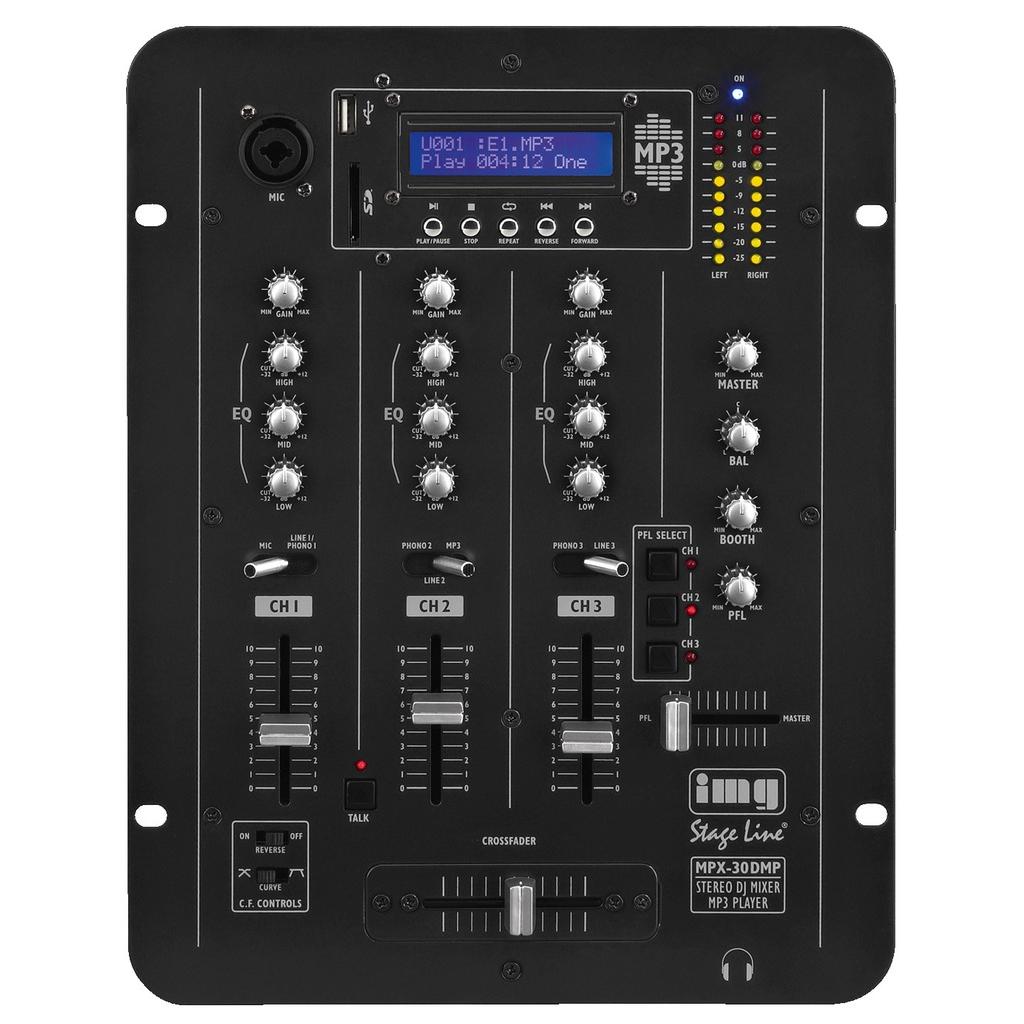 Mixer m/MP3-afspiller - MPX-30DMP