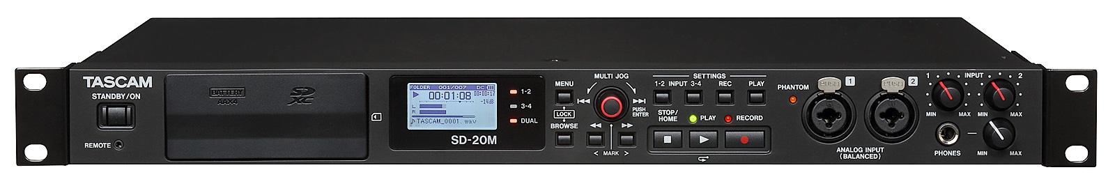 Tascam SD-20M Harddisk Audio recorder, 4 spor