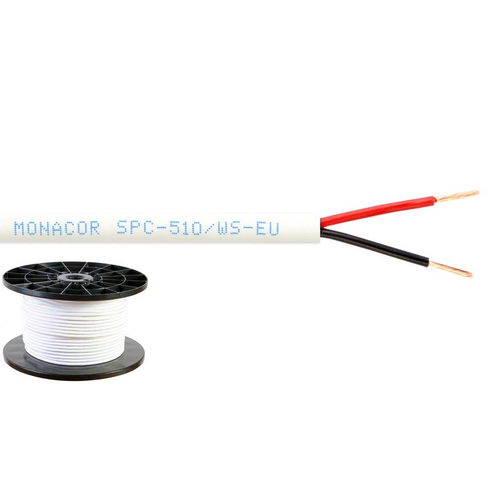 Billede af Monacor, Hvidt Højttalerkabel 2 x 1,0 mm2 - SPC-515/WS-EU