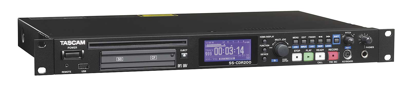 Tascam SS-CDR200 Harddisk og CD recorder WAW/MP3