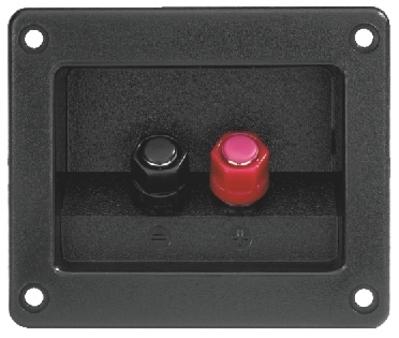 Billede af Firkantet plastik højtaler terminal ST-955