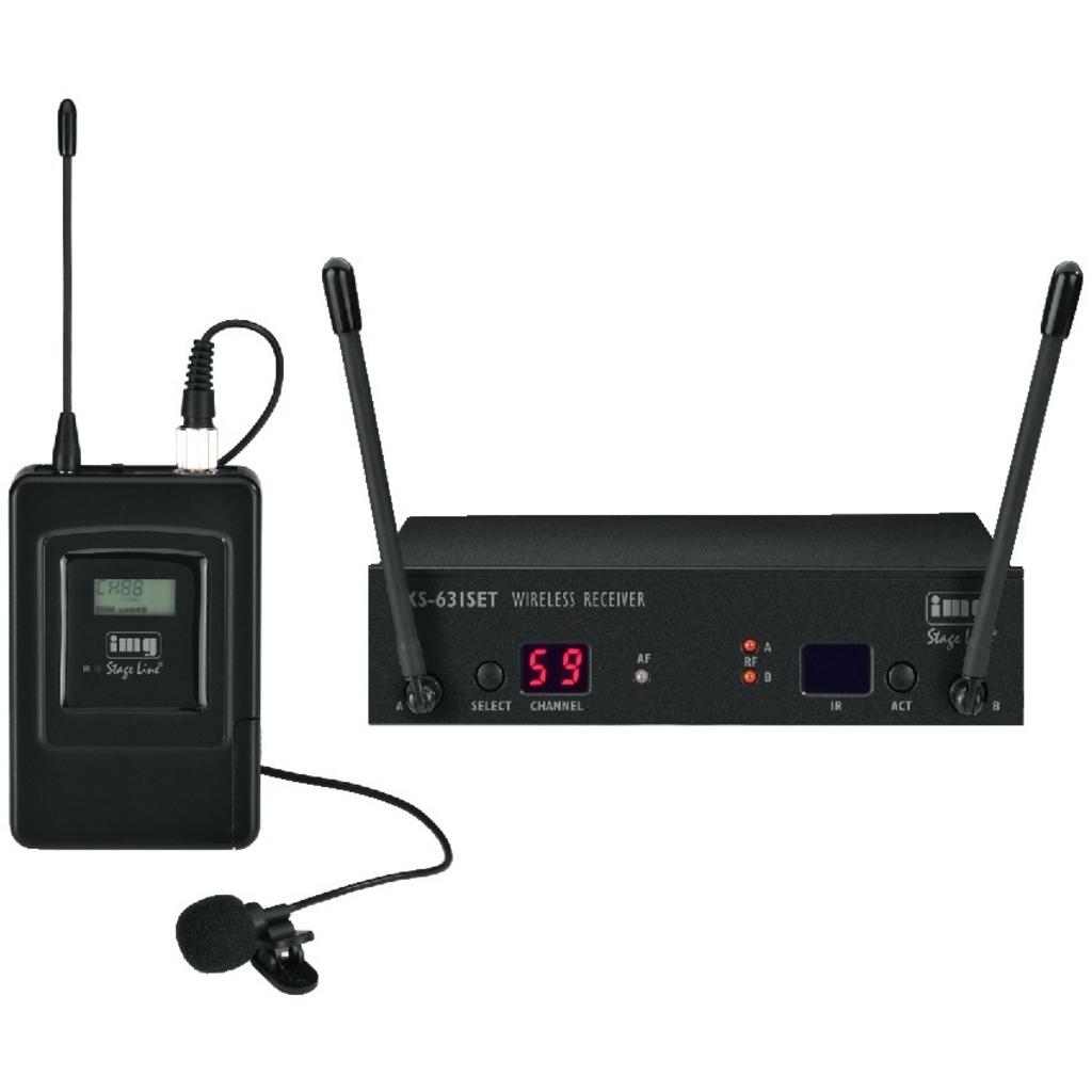 Trådløs mikrofonsæt med lommesender og knaphulsmikrofon TXS-631SET