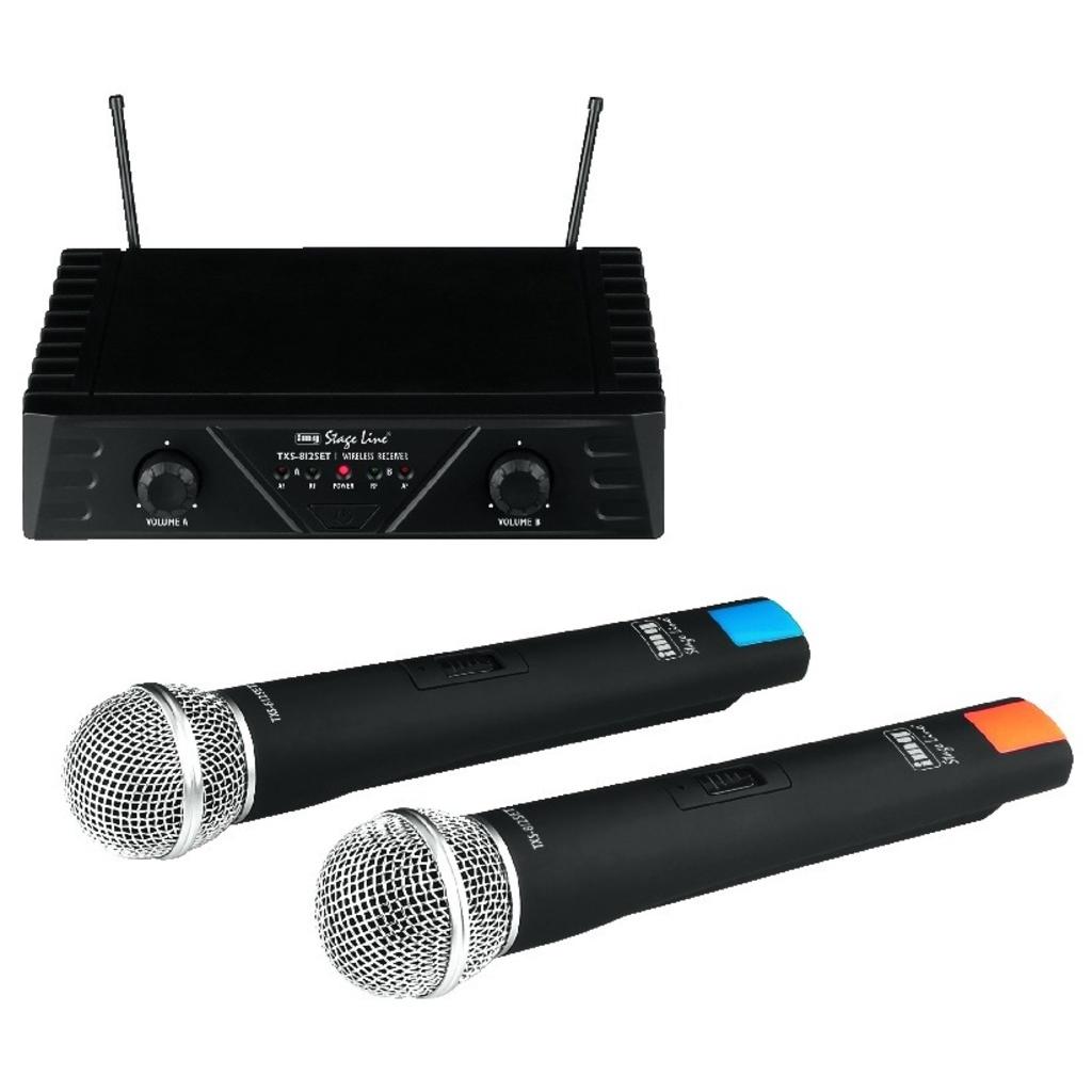 Trådløs mikrofonanlæg 2 kanaler og 2 mikrofoner - TXS-812SET