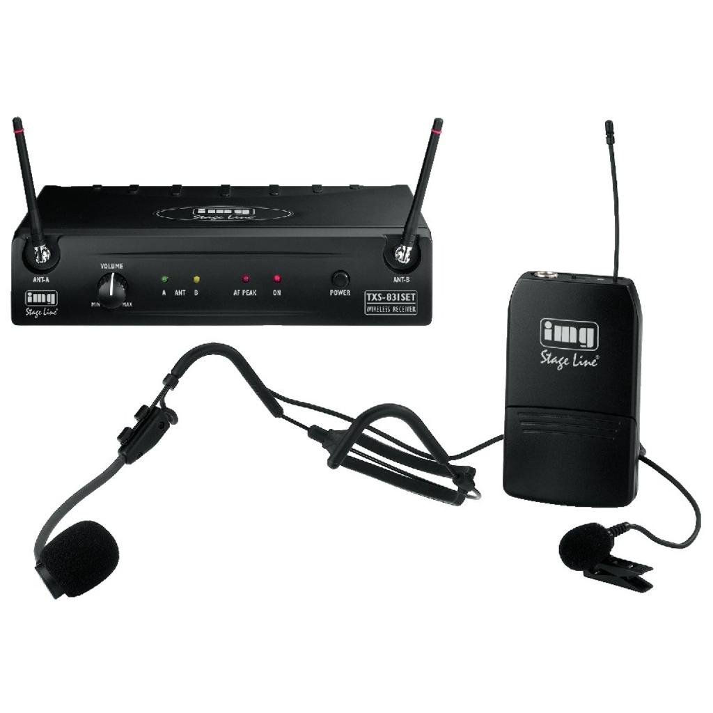 Trådløs mikrofonsæt med bøjle og knaphuls mikrofon TXS-831SET