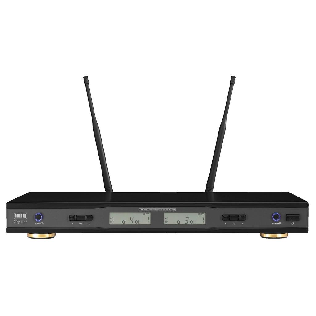 Trådløs mikrofon modtager 2 kanals 506-542 MHz TXS-865