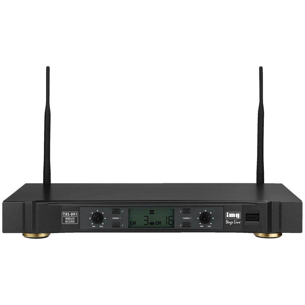 Trådløs mikrofon Modtager, 2 kanaler TXS-891
