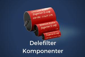 delefilter komponenter