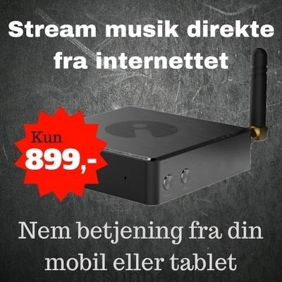 Stream musik fra internettet