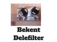 Bekent delefilter