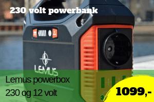 Lemus powerbank 230 volt