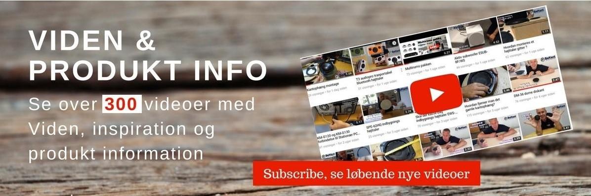 Højtaler og lydudstyr, videoer på youtube